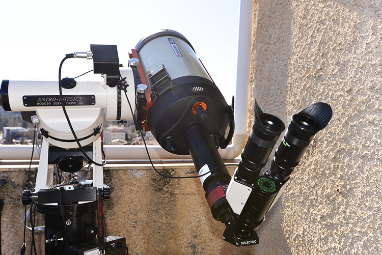 HAT telescope with binocular